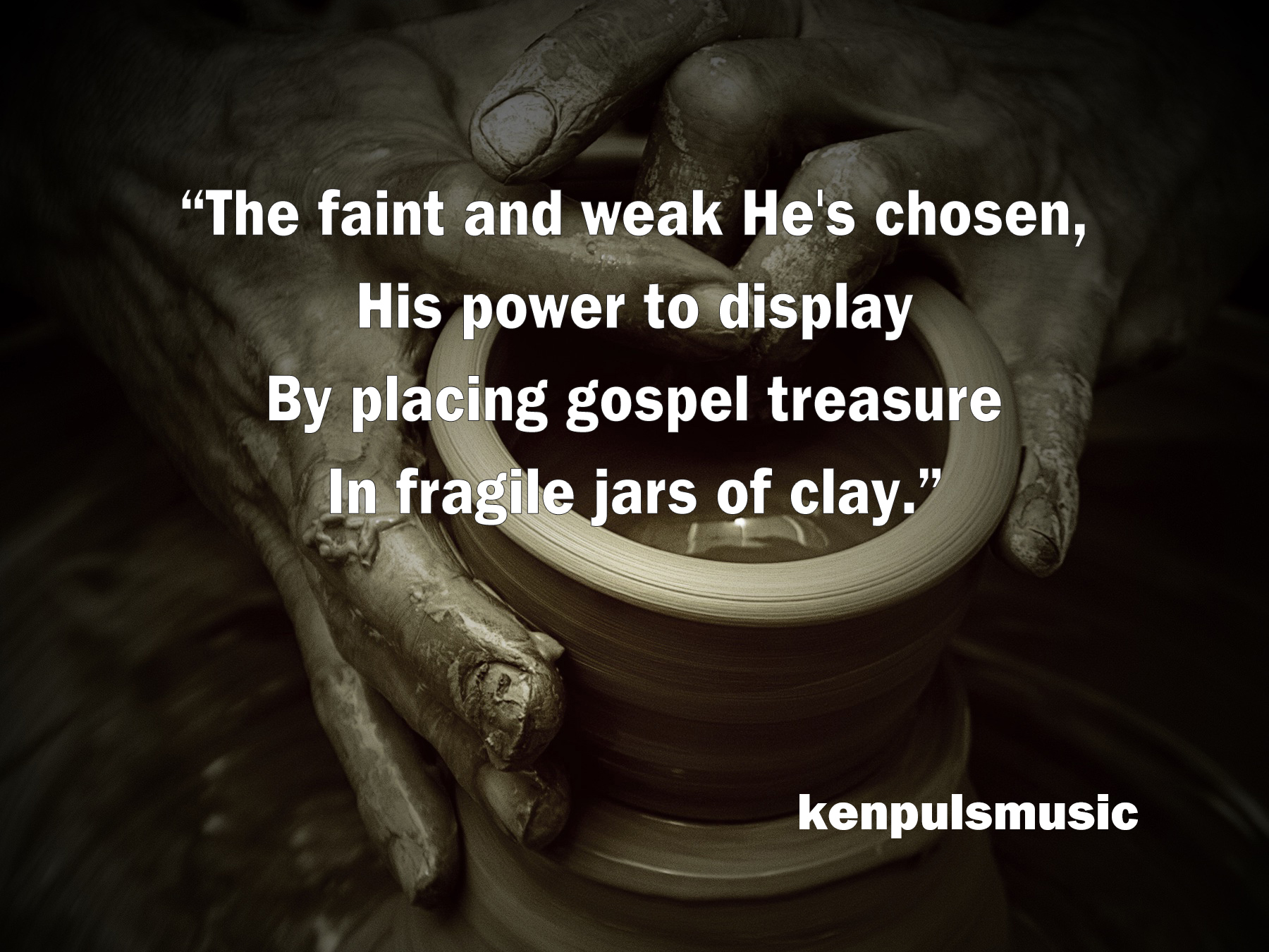 "Hymn lyrics from ""Fragile Jars of Clay 